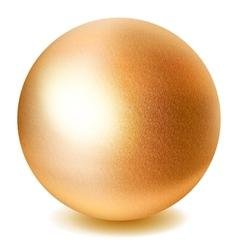 Golden sphere vector image