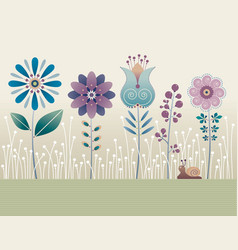 grapic flowers vector image