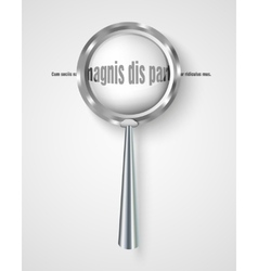 Magnifying glass with increased letters vector