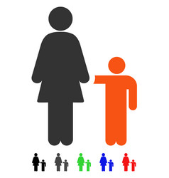 Mother with son flat icon vector