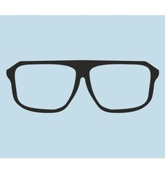 Nerd glasses on blue background vector image vector image