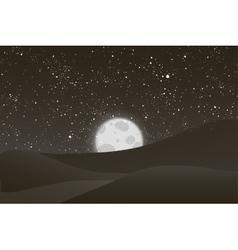Night moon shining stars on black and vector image vector image