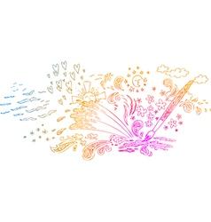 Paint brush creativity vector