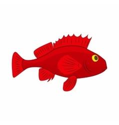 Red betta fish fighting fish icon cartoon style vector