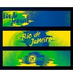 Rio de janeiro 2016 horizontal banners poster vector