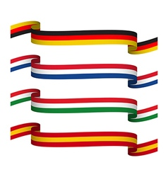 Set ribbons in the colors of germany vector