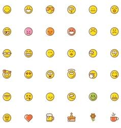 Smiley icon set vector image