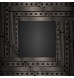 Steampunk background metal plates Frame vector image vector image
