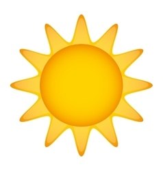 sun summer character isolated icon vector image vector image