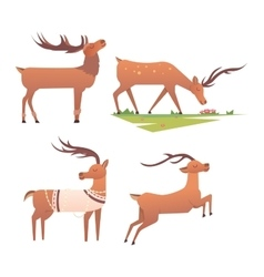 Cartoon deer animal vector