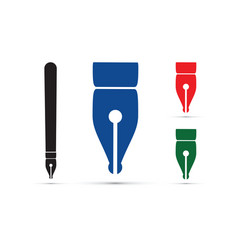 Pen tips vector
