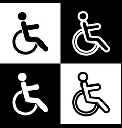 Disabled sign   black and vector