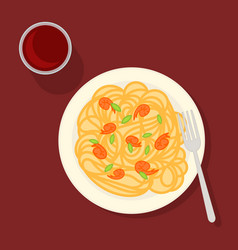 Traditional italian pasta concept vector