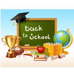 Back to school background with place for text vector