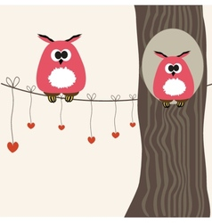 a funny character owls vector image