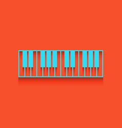 Piano keyboard sign whitish icon on brick vector