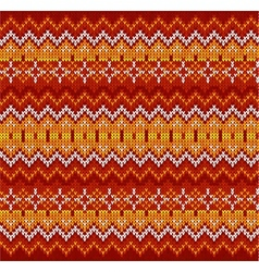 Red zigzag stripes knit seamless pattern vector