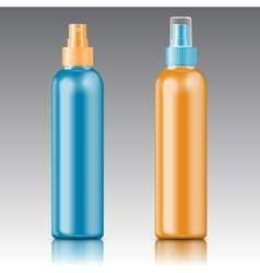 Colored sprayer bottle template vector
