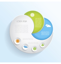 Modern ecology infographic template design vector image