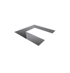 3d c letter logo 3d letter symbol vector image