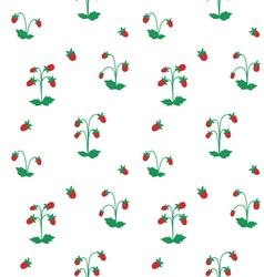 Wild strawberry bushes seamless pattern vector