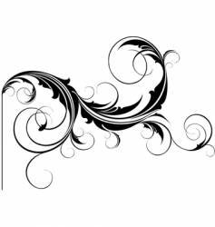 flourish element vector image