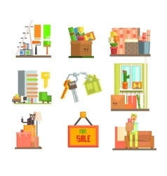 Repair and moving web icon set vector