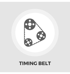 Timing belt icon flat vector