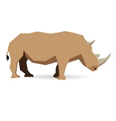 Low poly animal vector image