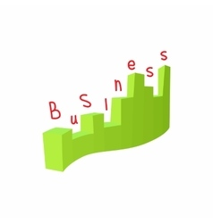 Statistics business icon cartoon style vector