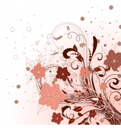 abstract floral bouquet vector image