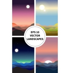 Abstract landscape set vector