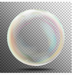 Air bubble glow white transparent bubble with vector