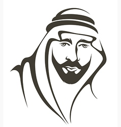 Arabian man vector