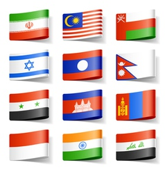 asia flags vector image