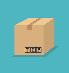 Box carton package icon vector