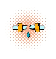 Break trumpet comics icon vector