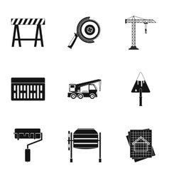 Building tools icons set simple style vector image