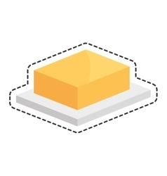 Butter delicious isolated icon vector
