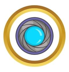 Camera aperture icon vector