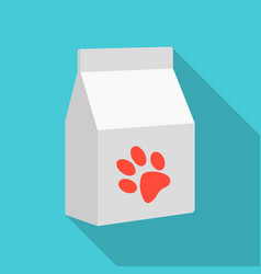 Cat food icon in flate style isolated on white vector