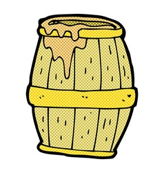 comic cartoon beer barrel vector image vector image