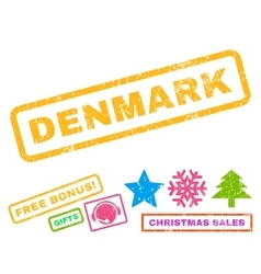 Denmark rubber stamp vector