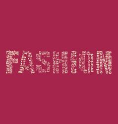 fashion keywords tag cloud vector image vector image