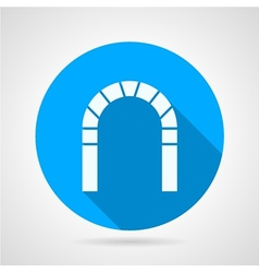 Flat icon for brick archway vector image vector image