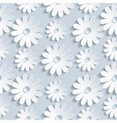 Floral seamless pattern with white chamomile vector image