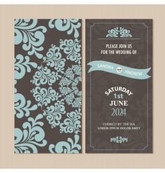 Invitation card set vector