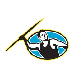 Javelin throw track and field athlete vector