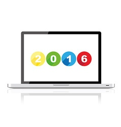 Laptop 2016 vector image