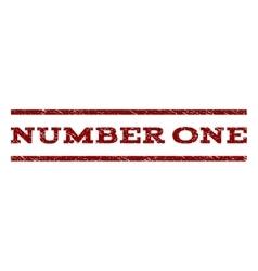 Number one watermark stamp vector